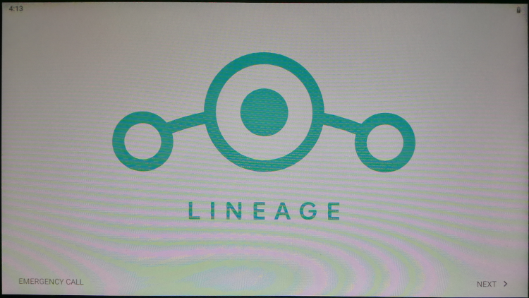 LineageOS 16.0 起動画面