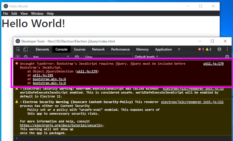 Uncaught TypeError: Bootstrap's JavaScript requires jQuery. jQuery must be included before Bootstrap's JavaScript.